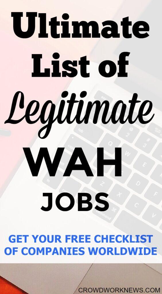 Ultimate List of Legitimate Work-at-home Jobs