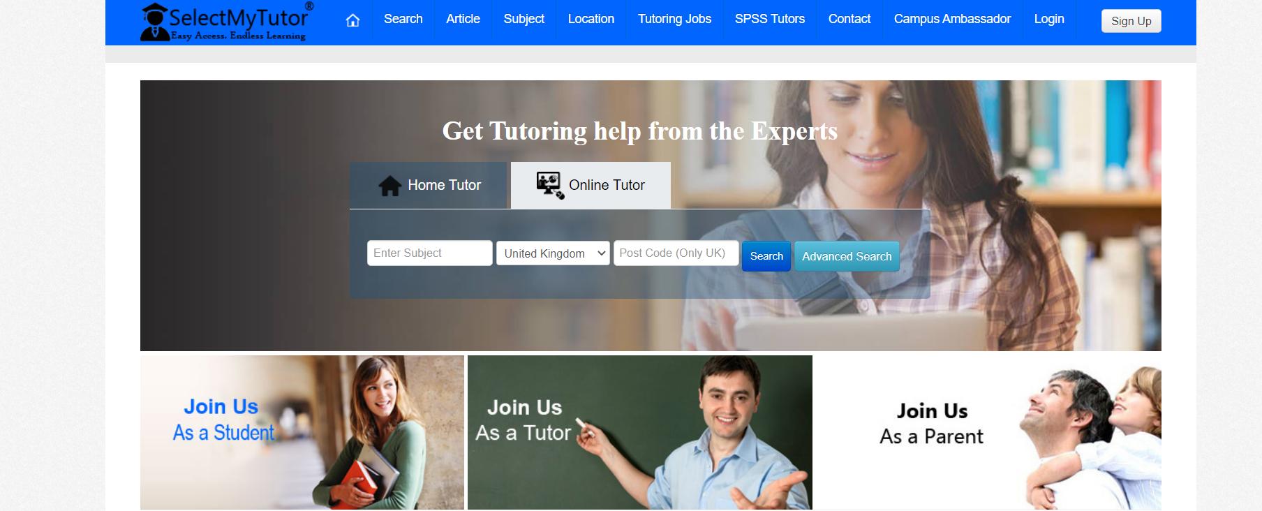 selectmytutor tutoring