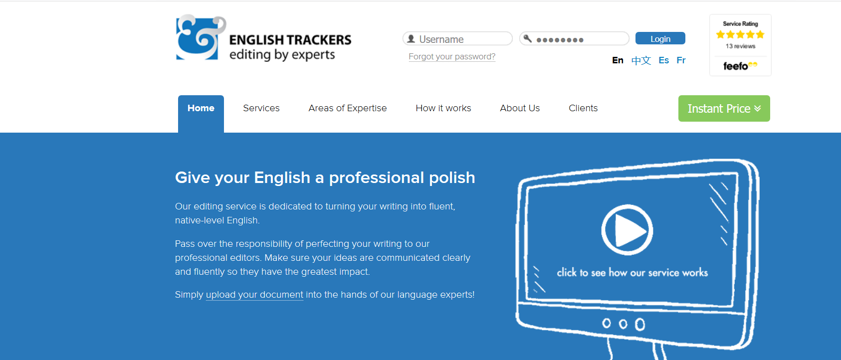 english trackers