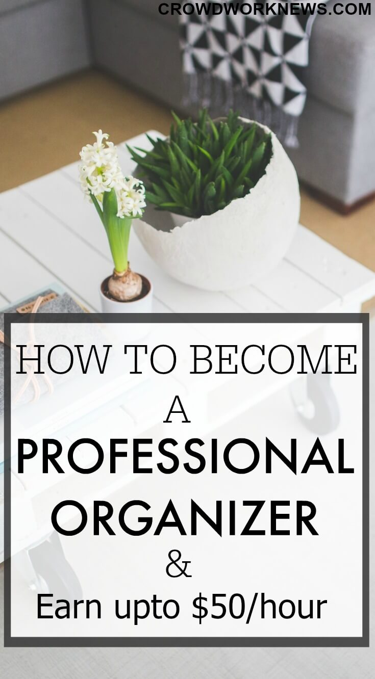how to become an organizer