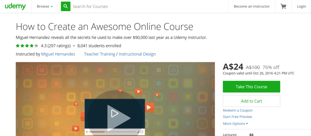 How to Create an Awesome Online Course