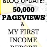 Month 3 Blog Update: 50,000 Page Views and My First Income Report