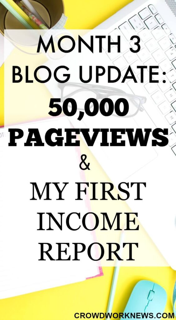 Month 3 Blog Update: 50,000 Pageviews & My First Income Report