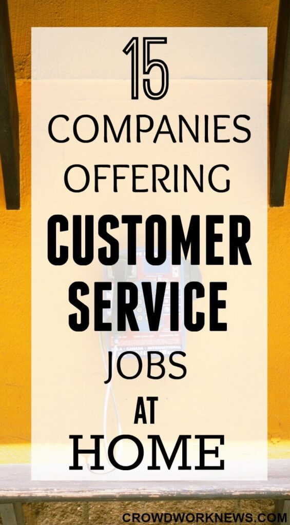 customer service jobs from home