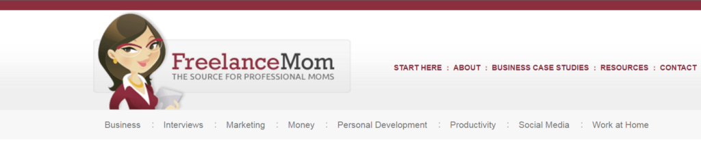 FreelanceMom Homescreen