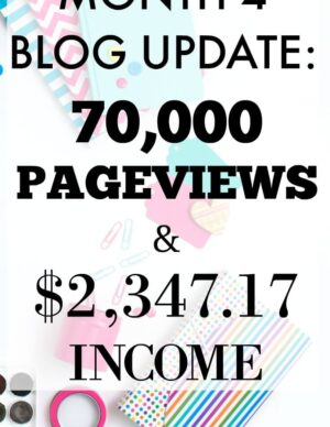 Month 4 Blog Update: 70,000 Page Views