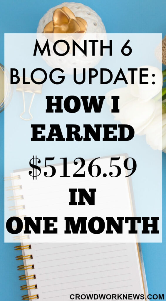 How I Earned $5,126.59 in 6th Month of Blogging