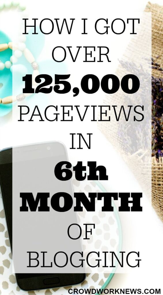How I Got Over 125,000 Page Views in 6th Month of Blogging