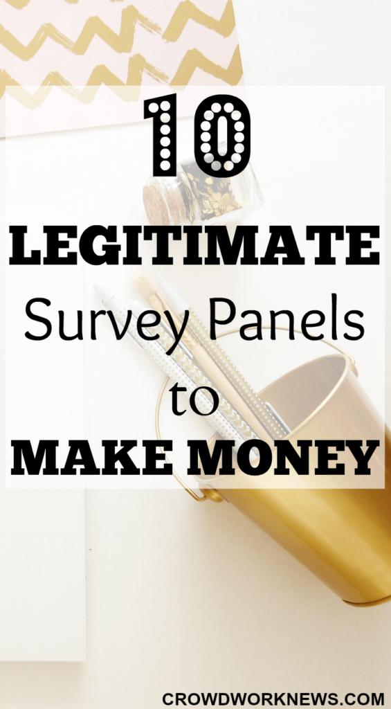 10 Legitimate Survey Panels to Make Money
