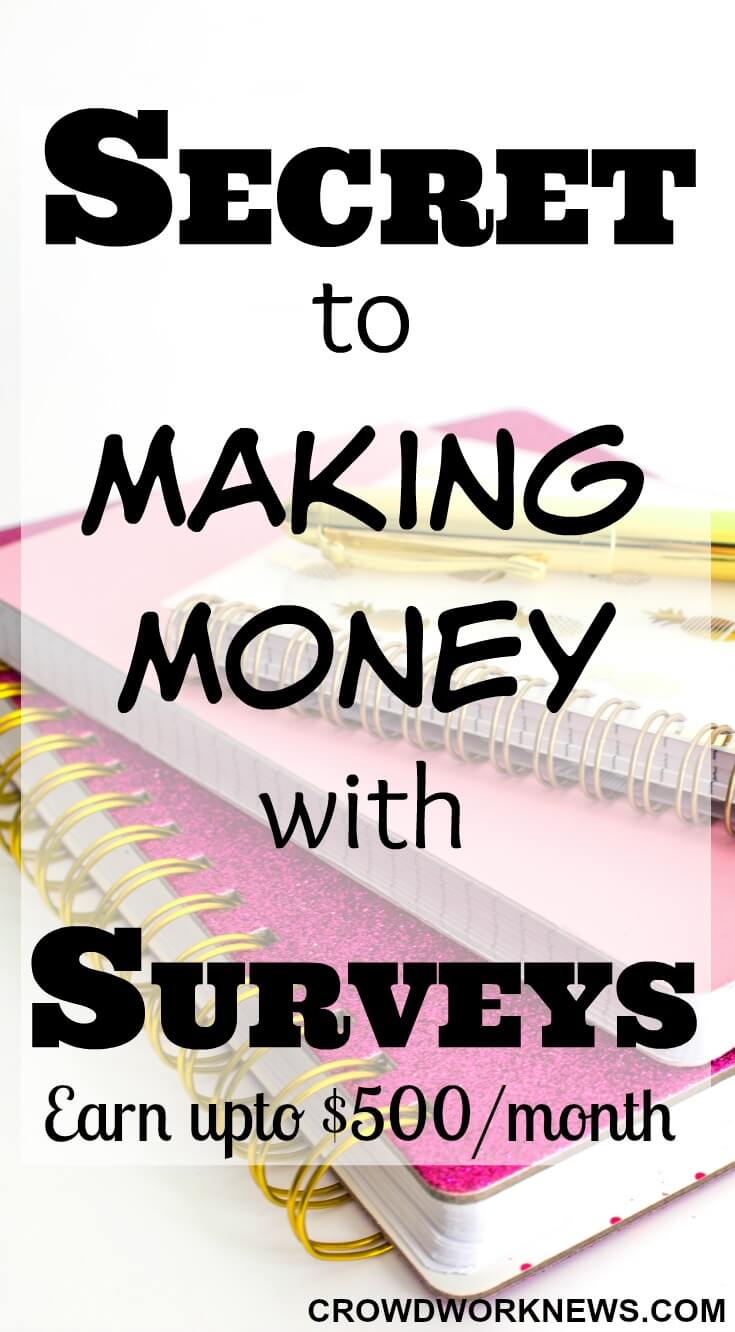 Secret to Making Money with Paid Online Surveys (Tips to Earn More)