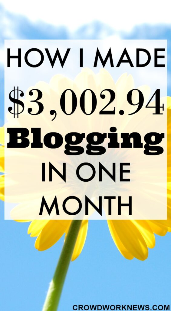 How I Made $3002.94 Blogging in One Month