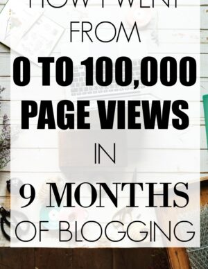 How I Went From 0 To 100,000 Pageviews In 9 Months Of Blogging
