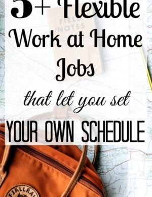 work at home jobs with flexible hours