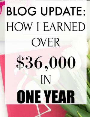 first year blogging update
