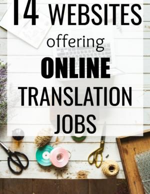 websites offering online translation jobs