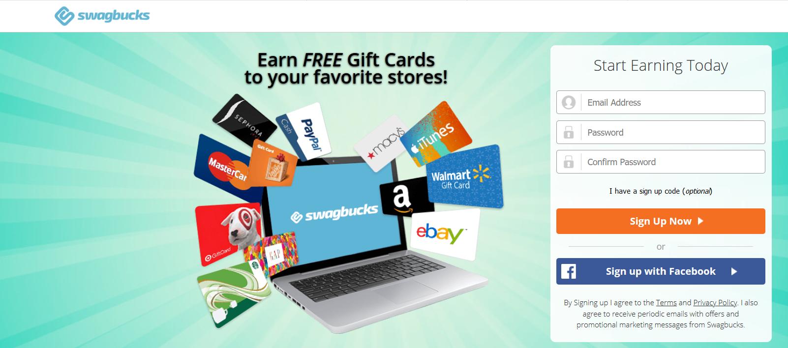 Swagbucks Bewertung: Verdiene kostenlose Geschenkkarten für deine Lieblingsgeschäfte!