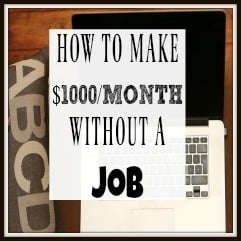 how to make 1000 dollars a month without a job