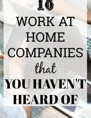 work at home companies you haven't heard