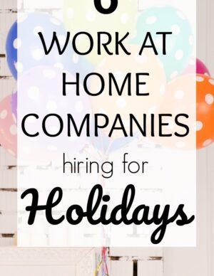 seasonal jobs through work at home companies