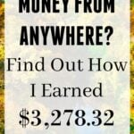 How I Earned $3,278.32 in One Month Working from Home