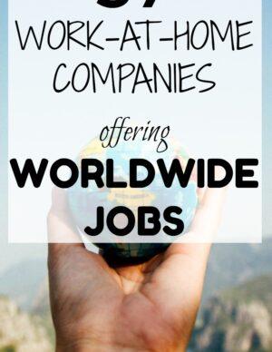 work from home jobs worldwide