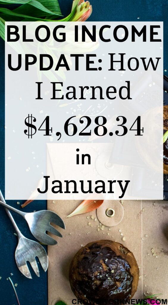 Blog Income Update: How I Earned $4,628.34 in January