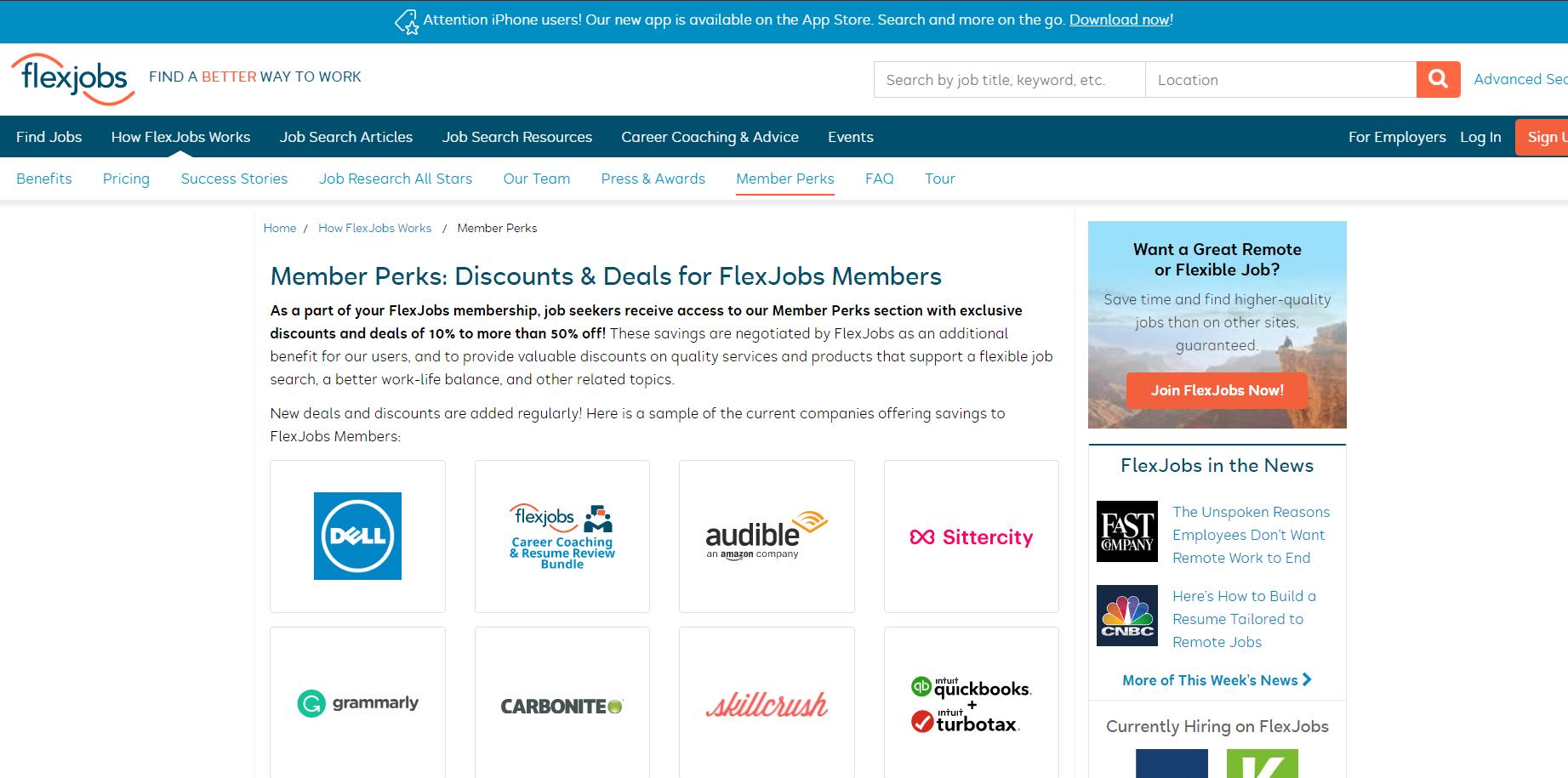 flexjobs member discounts