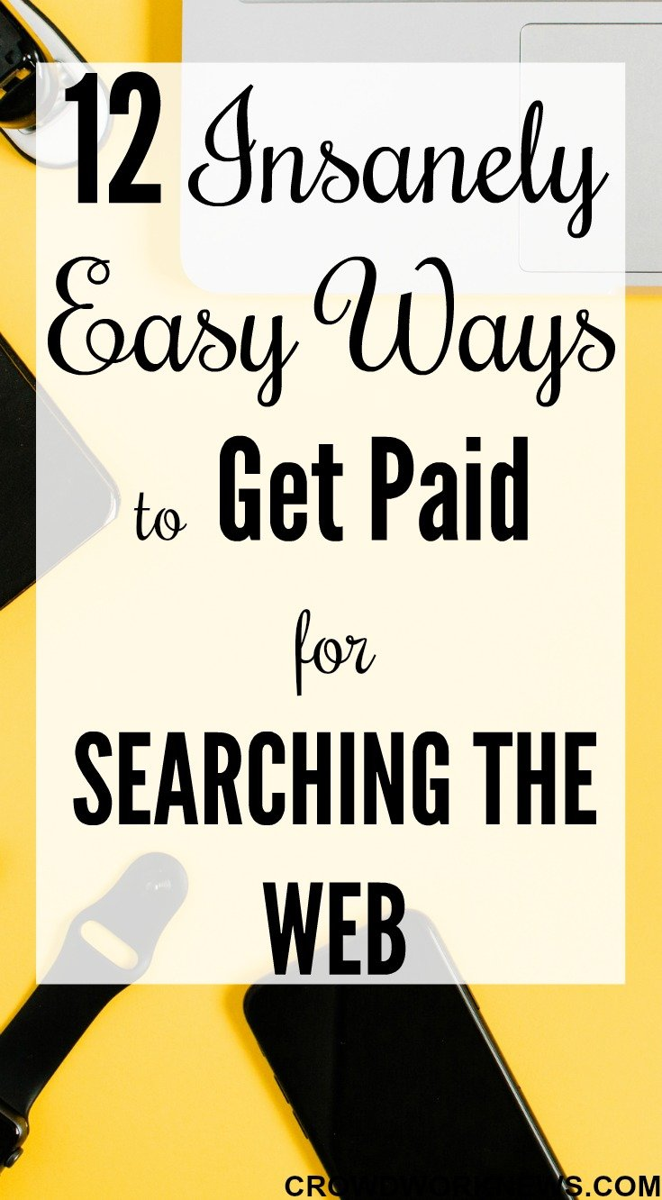 get paid for searching the web