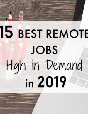 best remote jobs high in demand