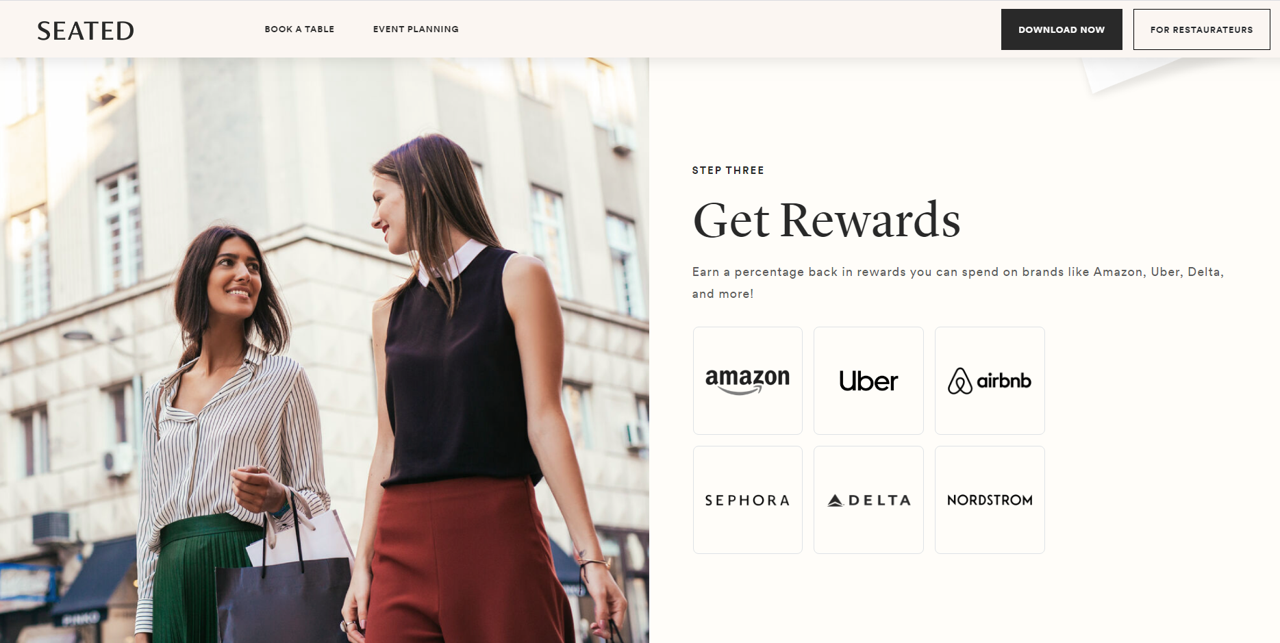 seated rewards partners