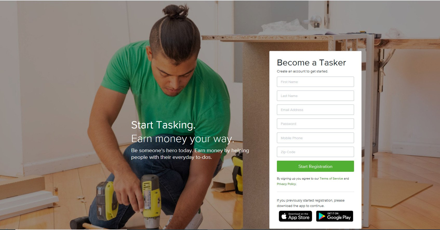 taskrabbit - become a tasker