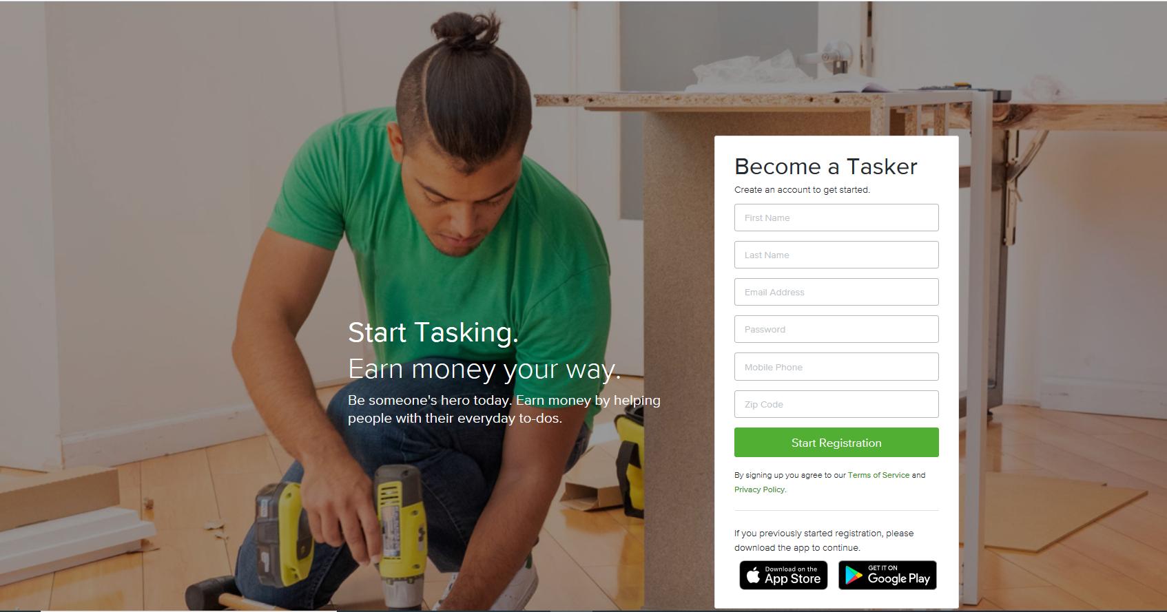 taskrabbit - become a tasker