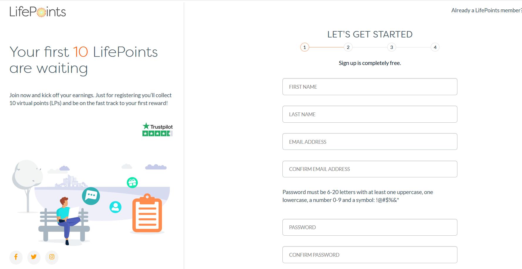 lifepoints registration