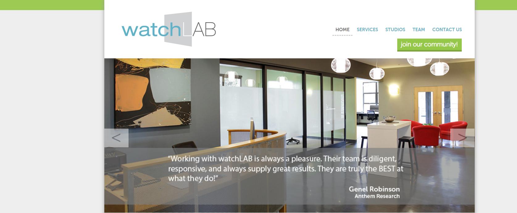 watchLAB homepage