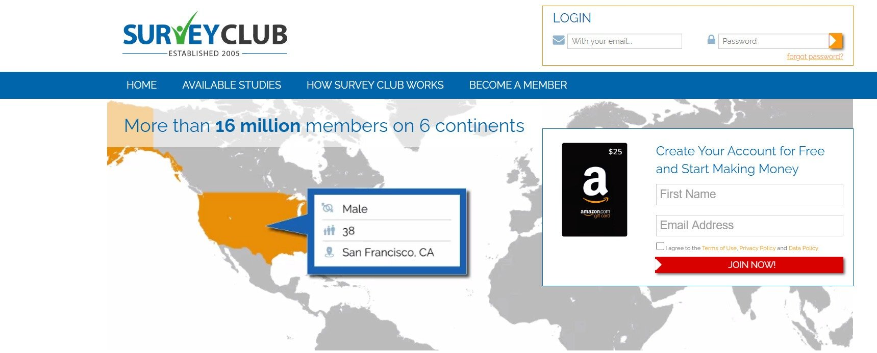 survey club homepage